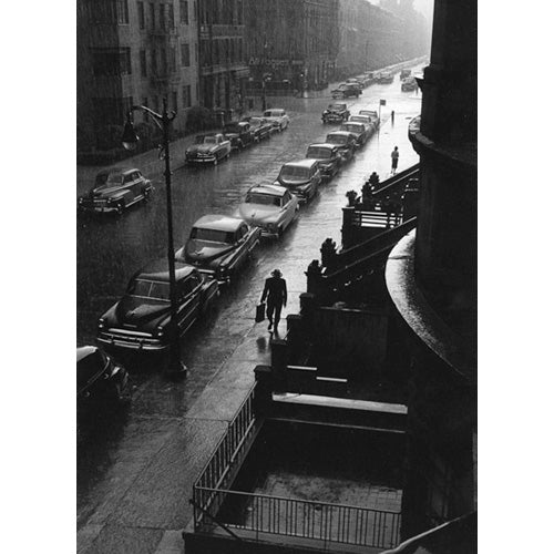 Man in Rain, New York City, 1952 Photograph - ImageExchange