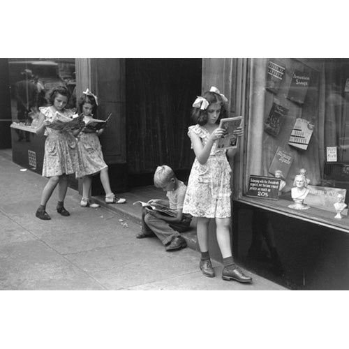 Comic Book Readers, New York City, 1947 Photograph - ImageExchange