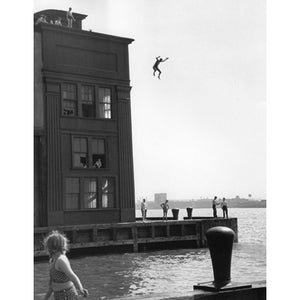 Boy Jumping, New York City, 1948 Photograph - ImageExchange