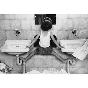 Tirza on Sinks, Israel, 1951 Photograph - ImageExchange