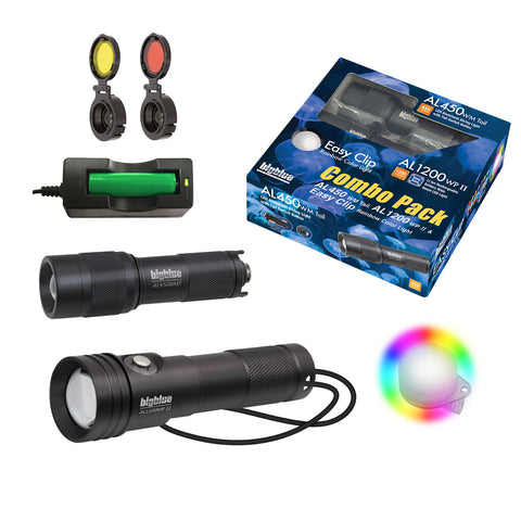 BigBlue Lights Combo Pack: AL450WM Tail & AL1200WP-II & Easy Clip Rainbow CP-450WT-1200W-EZCR