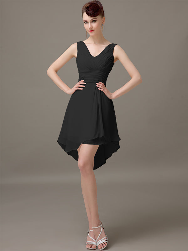 Black Short A-Line Bridesmaid Dresses