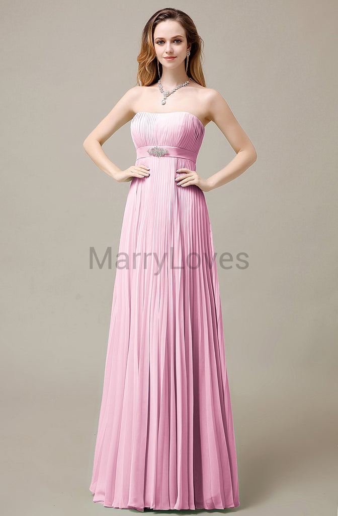 Strapless A-Line Bridesmaid Dresses