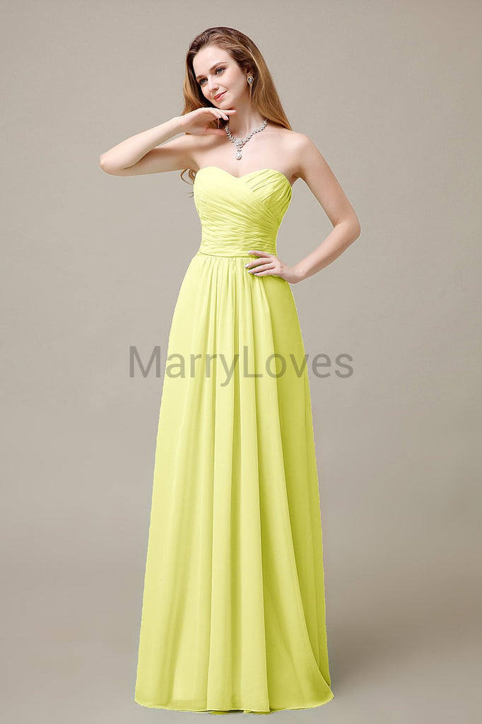 Sweetheart A-Line Bridesmaid Dresses
