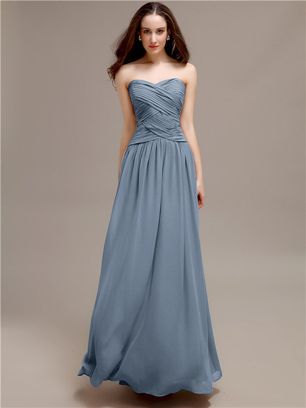 Sweetheart Long A-Line Bridesmaid Dresses
