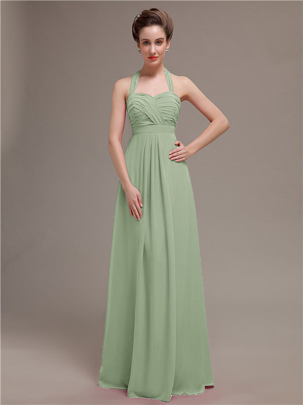 Halter Long Bridesmaid Dresses