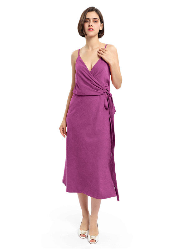Spaghetti Straps V-neck Split Bridesmaid Dresses