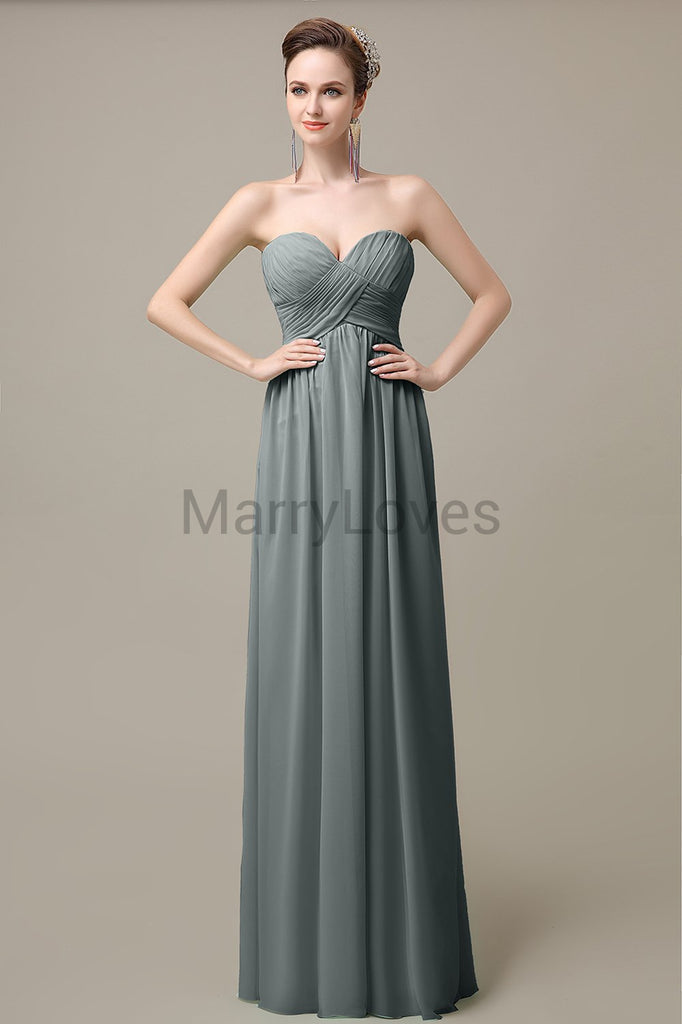 Sweetheart Pleats Cheap Bridesmaid Dresses