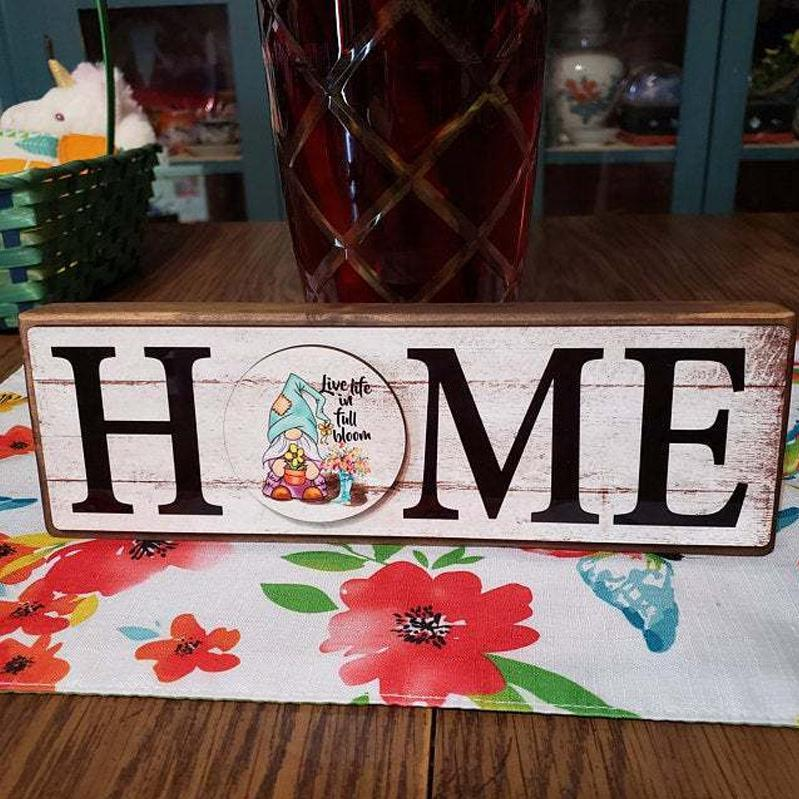 Home Sign with 12 interchangeable pieces