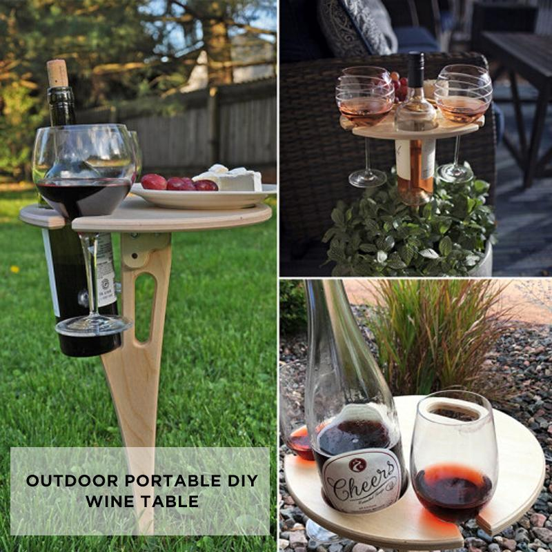 Outdoor Portable Diy Wine Table