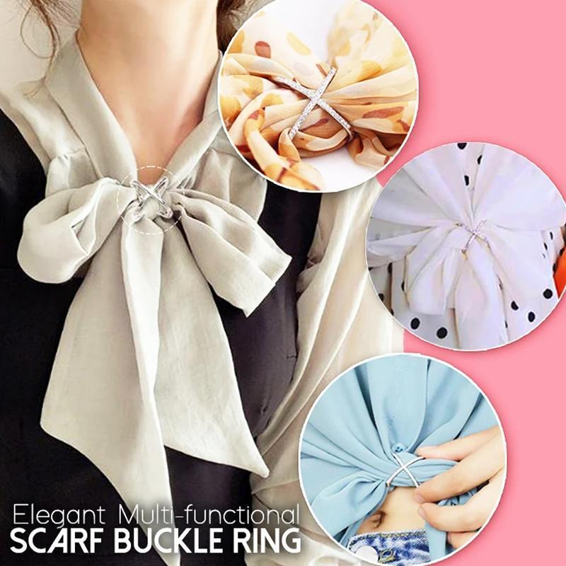 Elegant Scarf Buckle Ring