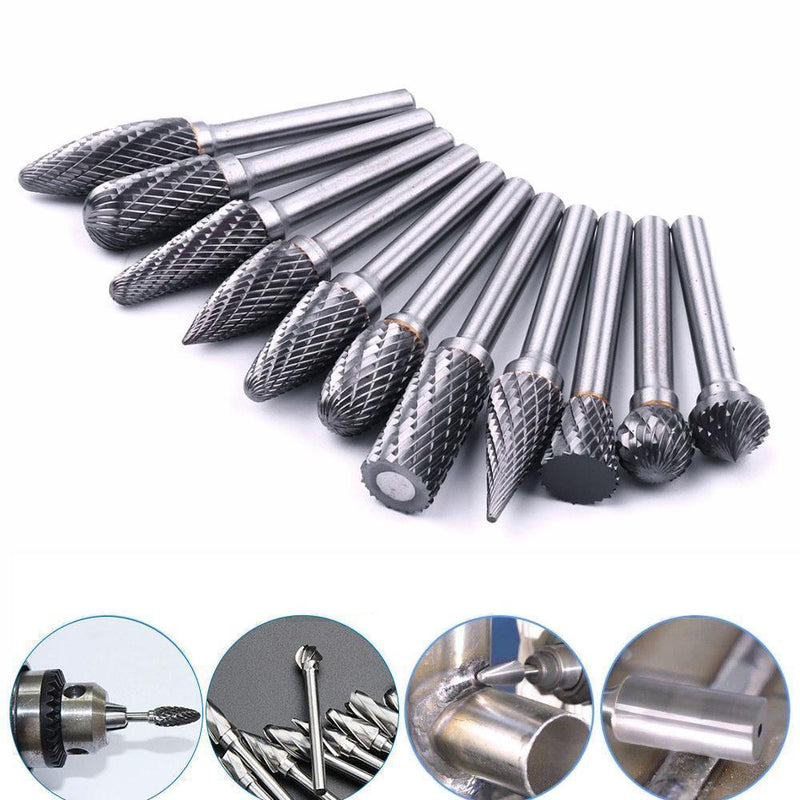 10 in 1 Tungsten Steel Grinding Head ( 10PCS )