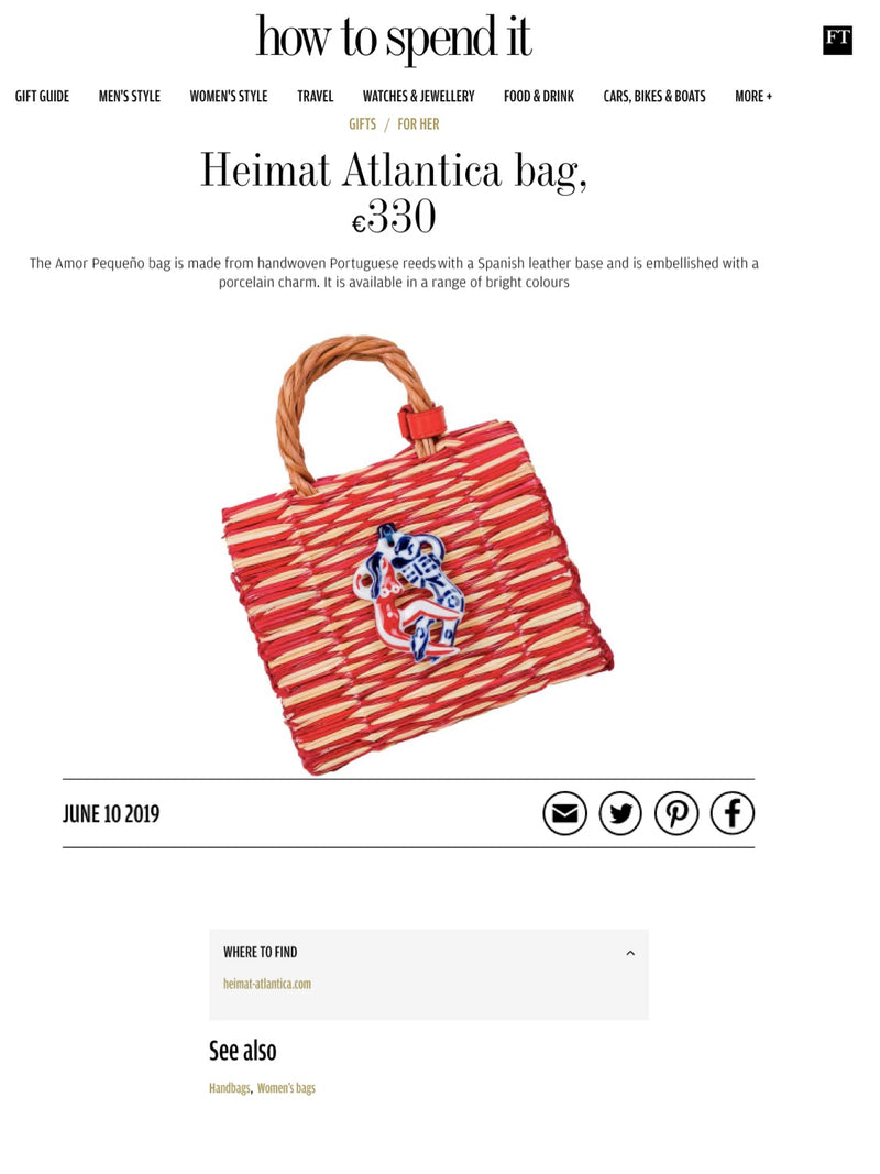 SHELL CHARM STRAW BAG HEIMAT ATLANTICA THE FINANCIAL TIMES