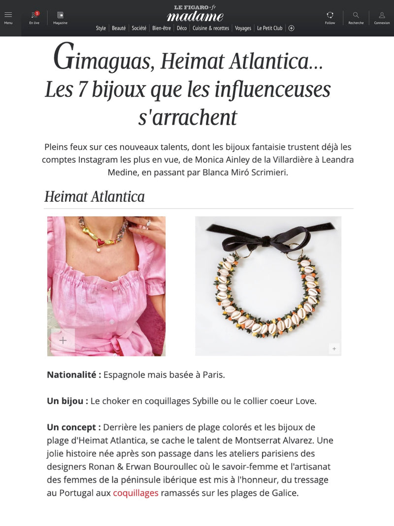 SHELL CHOCKER HEIMAT ATLANTICA MADAME FIGARO