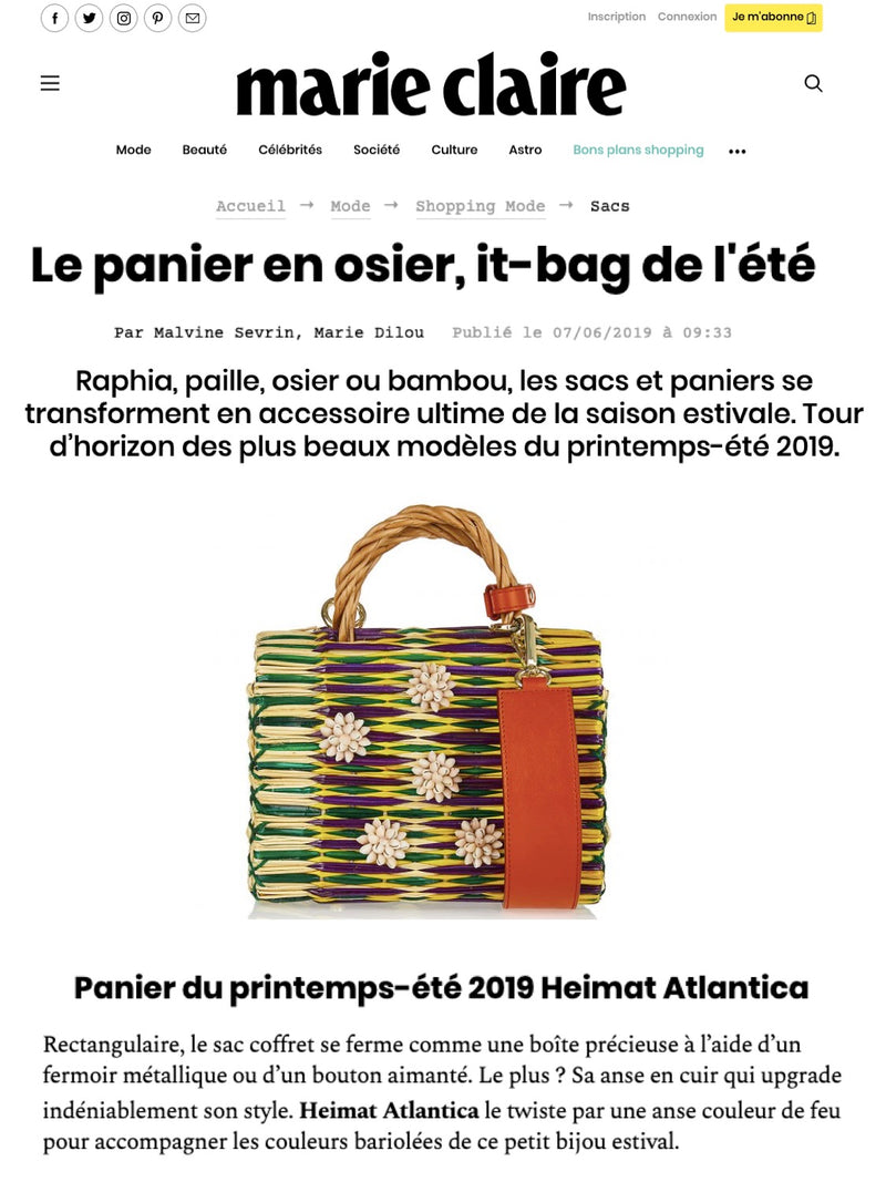 SHELL CHARM STRAW BAG HEIMAT ATLANTICA