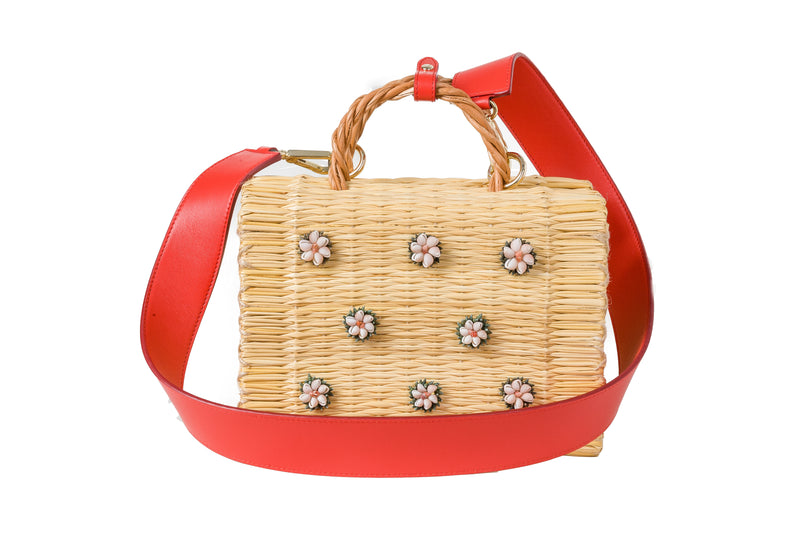 Shella medium red with strap