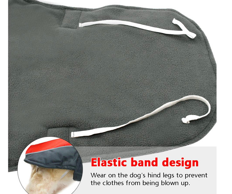Waterproof Dog Winter Coat Warm Jacket- 3TAS684