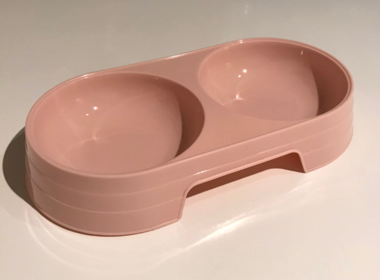 Plastic pet bowl double ( Small Dog or Cat )