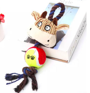 Plush Toys with Tennis ball