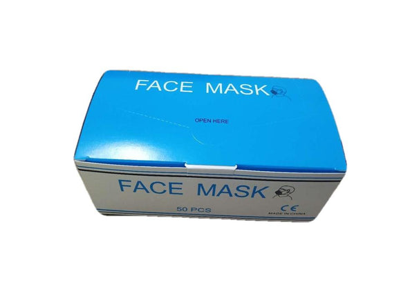 Hypoallergenic face masks box of 50