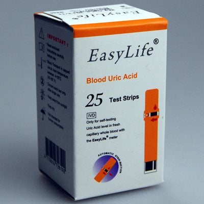 25 EASYLIFE Blood Uric Acid Strips