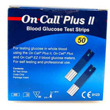 on call plus II blood glucose test strips