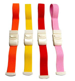 medical tourniquets bright colours