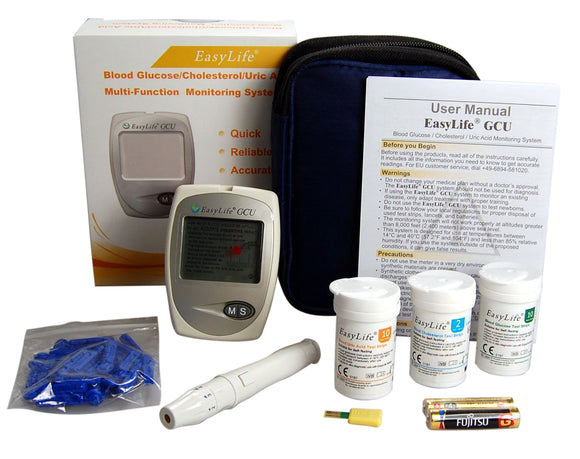 EasyLife triple meter with cholesterol testing
