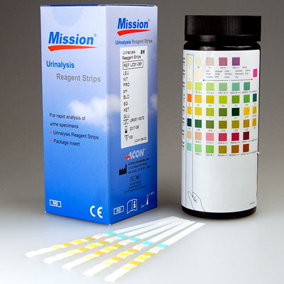 MISSION 8 Parameter Urine Test Strips Pack of 100