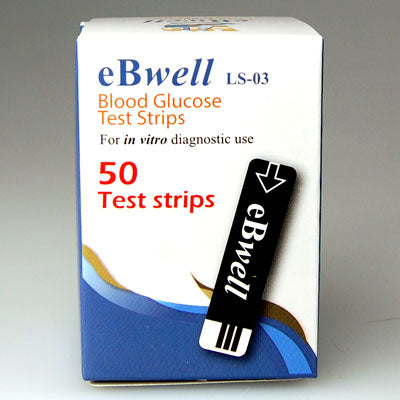 50 EBWELL Blood Glucose Strips