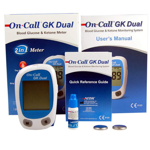 on call GK dual ketone and glucose meter