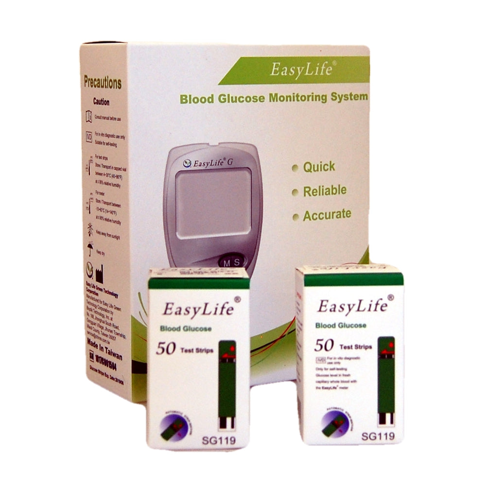 Free Blood Glucose Meter >> Free Easylife Blood Glucose Diabetic Meter When You Buy 100 Blood Glucose Strips