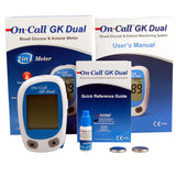 On Call GK dual blood test meter for ketones and glucose