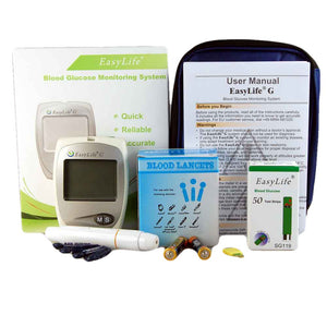 Blood Glucose meter plus 50 strips and lancets by easylife