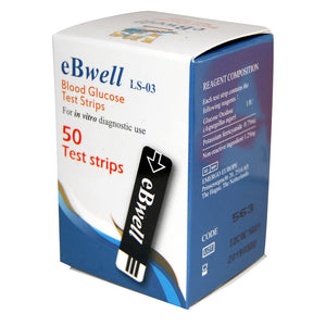 50 eBwell blood glucose tests strips