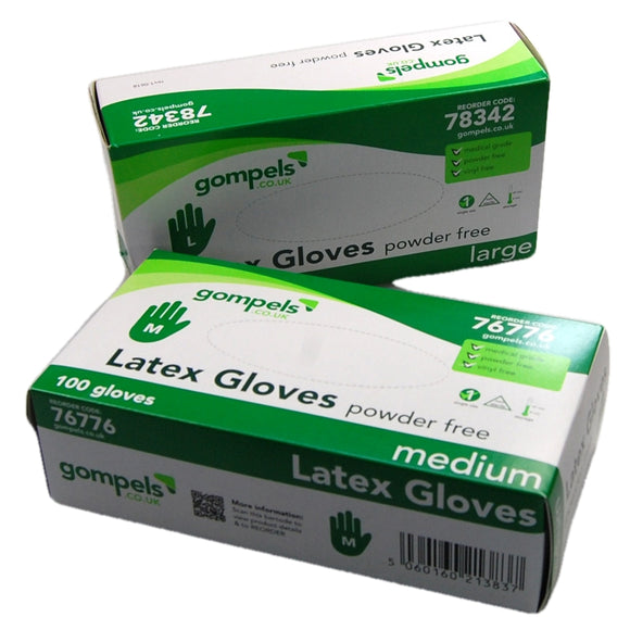 lates powder free gloves