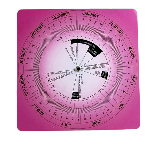 obstetric calculator wheel