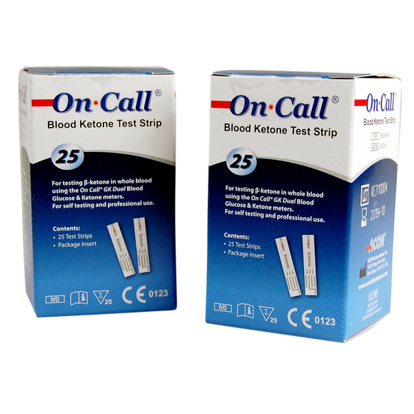 on call blood ketone test strip