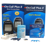 Free on call plus II blood glucose meter 50 tests and lancets
