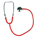 single head red stethoscope