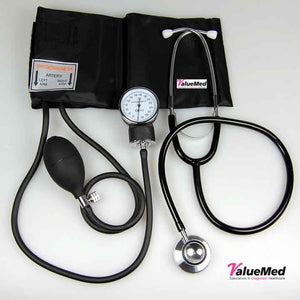 valuemed sphygmomanomter and stethoscope set