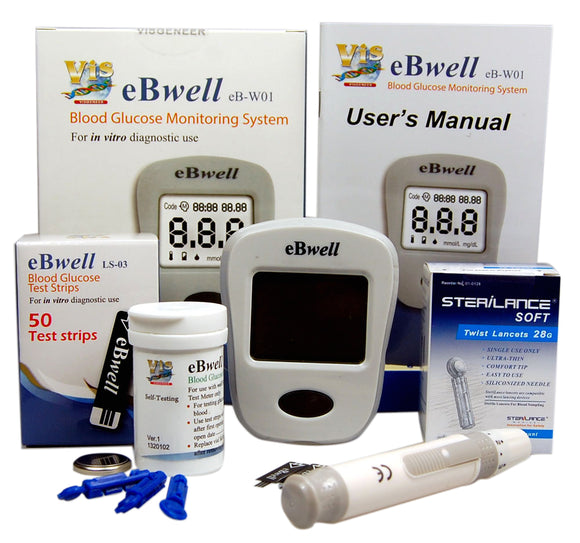 wholesale bulk ebwell blood glucose meter starter pack UK
