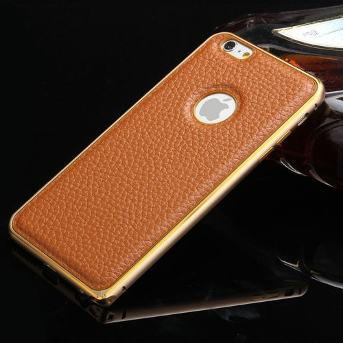 Luxury Leather Case Aluminum Bumper Cover