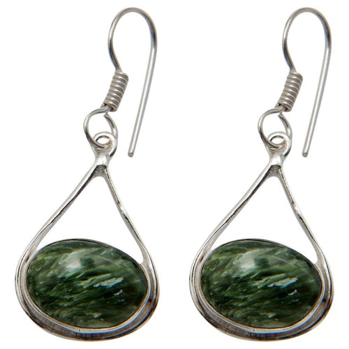 Silver-plated Seraphinite Earrings