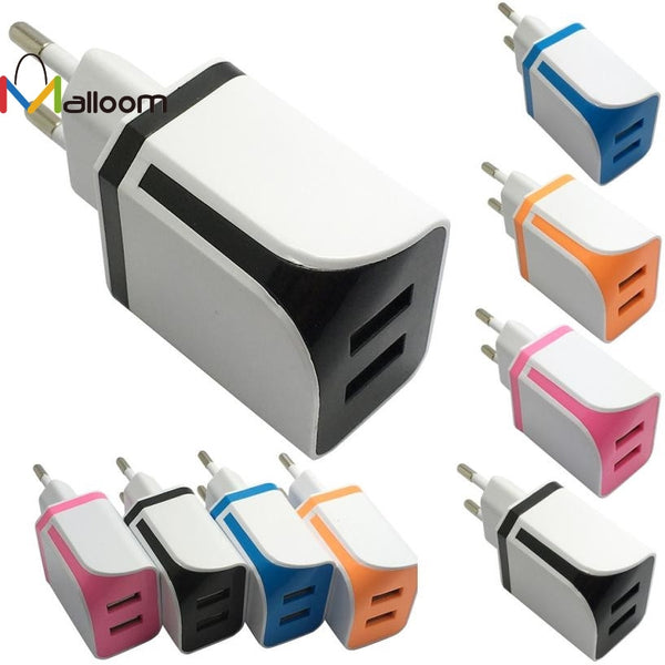 2016 Phone Accessoires Dual USB Ports Home Wall Travel AC Power Charger Adapter For Samsung EU