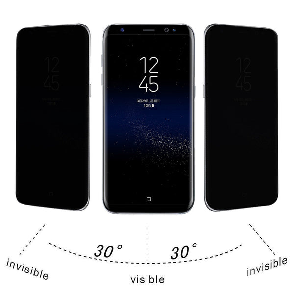 For Samsung Galaxy S8 Plus Privacy Full Screen Protector Anti-Spy Tempered Glass