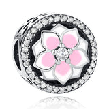 ELESHE Authentic 925 Sterling Silver Poetic Blooms & Daisy Heart Clip Bead Charm Fit Original Pandora Charm Bracelet DIY Jewelry