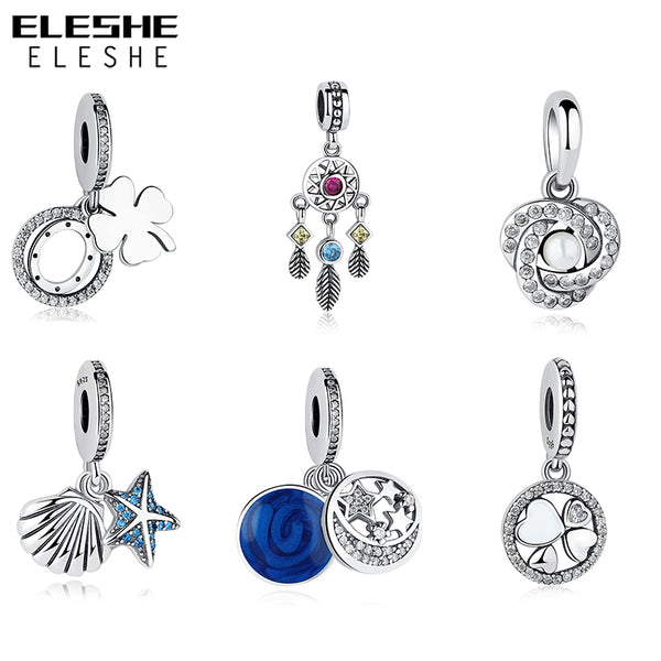 2017 Pendant Beads Charms Fit Original Pandora Charms Silver 925 Bracelet Authentic Sterling Silver Beads Jewelry Making