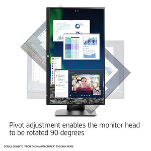 HP 23.8-inch FHD IPS Monitor with Tilt/Height Adjustment and Built-in Speakers