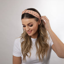 Load image into Gallery viewer, TOP-KNOT HEADBAND WITH CRYSTAL STUDS